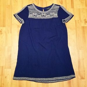 LUCKY BRAND | blue embroidered 💙🍀 dress